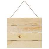 Natural Slatted Wood Pallet Wall Decor